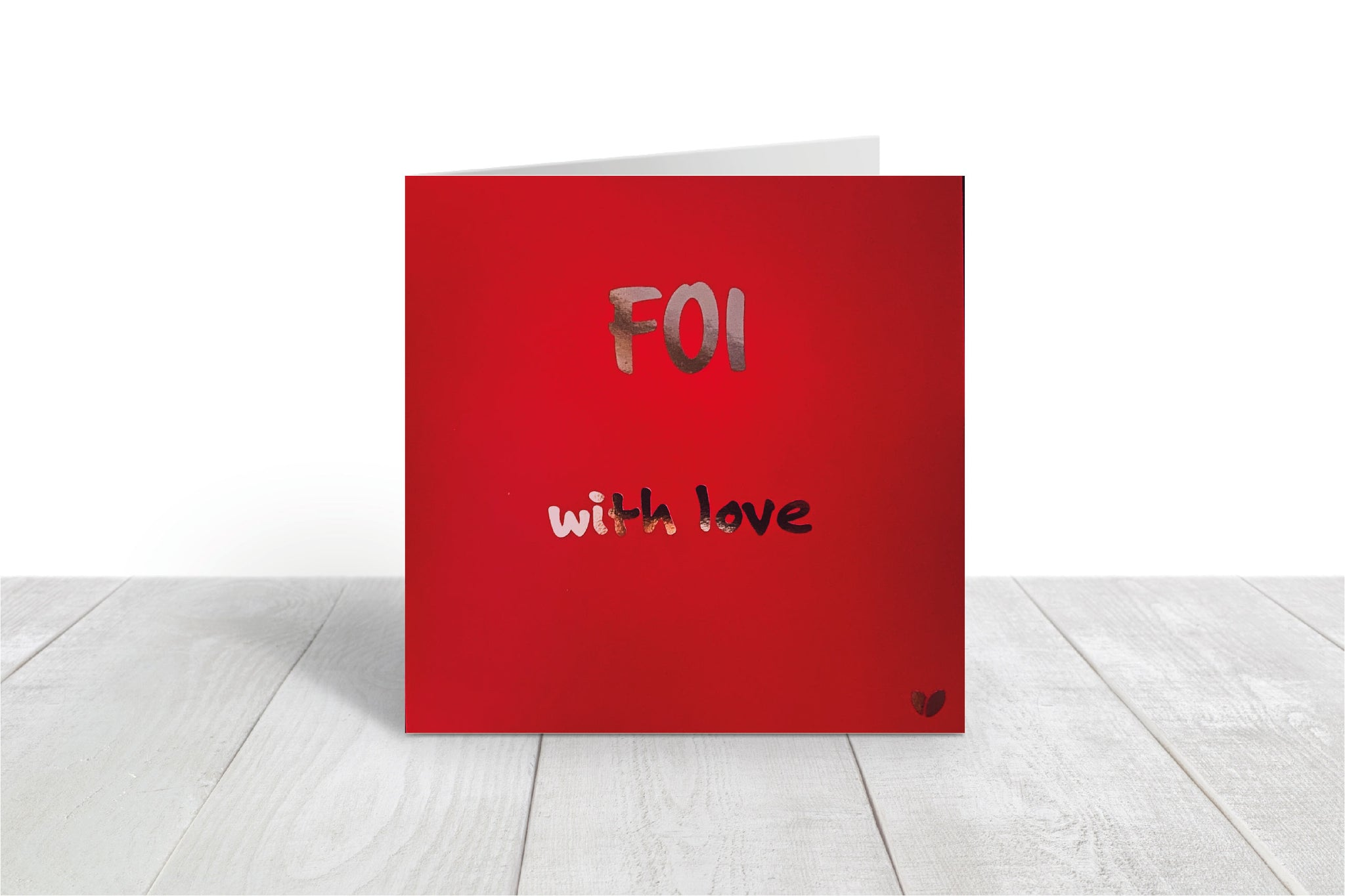 Foi, with love greeting card