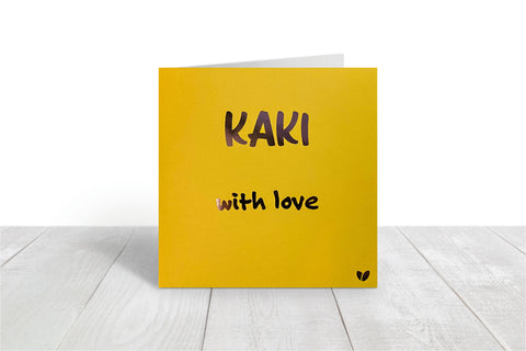Kaki, with love greeting card