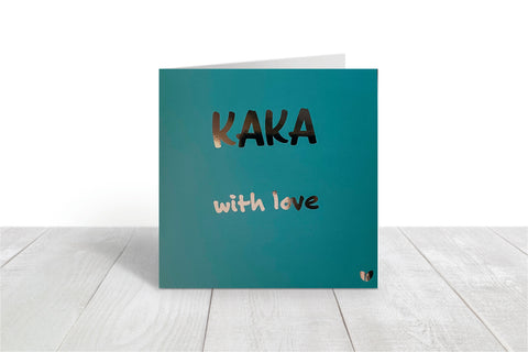 Kaka, with love greeting card