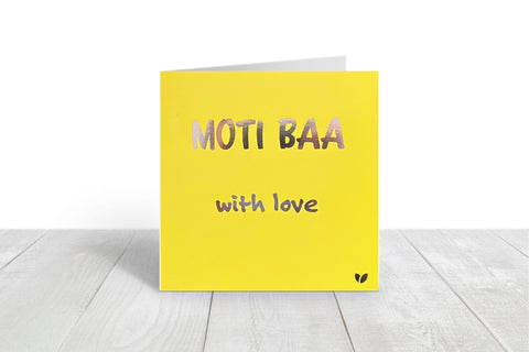 Moti Baa, with love greeting card