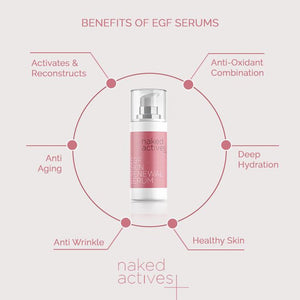 EGF Serum with Collagen and Vitamin C Skin Hydration and Renewal. Anti Aging Moisturizer with Hyaluronic Acid (1 Fl Oz)