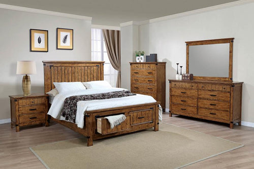 Brenner Bedroom in Rustic Honey