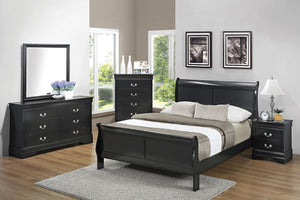 Louis Philippe Bedroom in Black