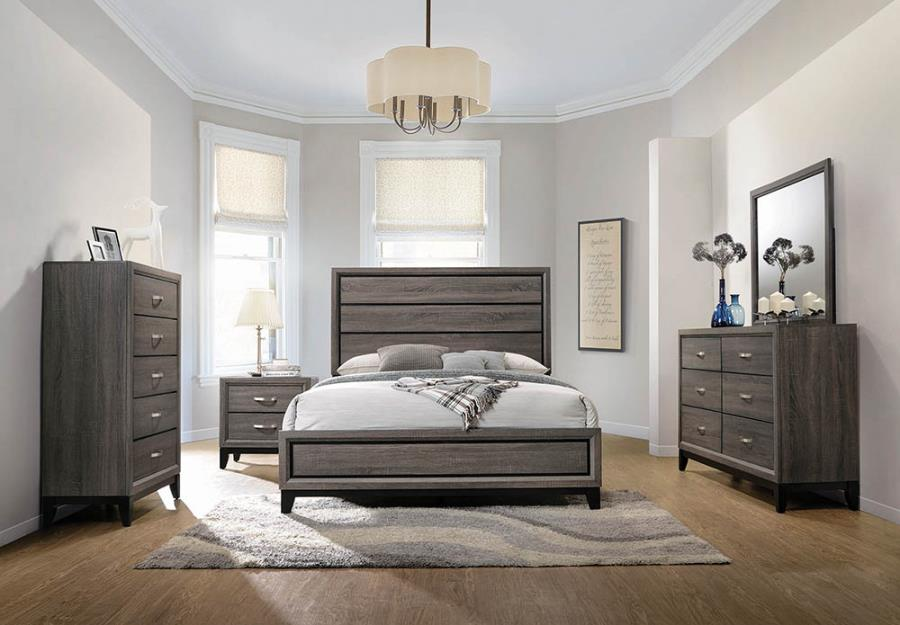 Watson Bedroom in Grey Oak/Black