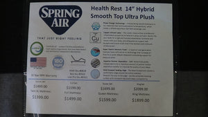 "Health Rest 14"" Hybrid Smooth Top Ultra Plush"