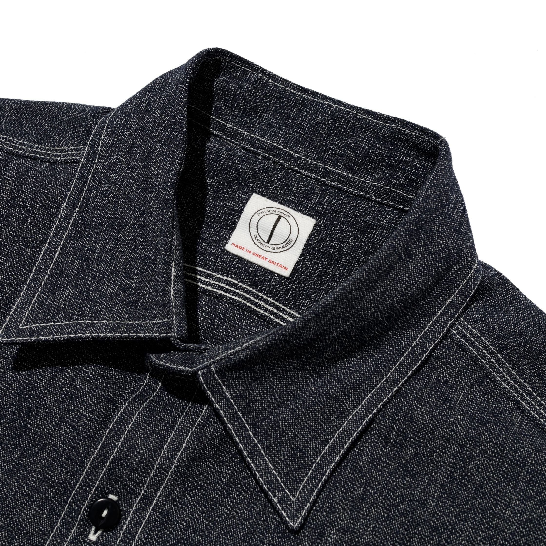 Dawson Denim x Triplstitched Workwear Shirt - 7oz Salt and Pepper Twisted Yarn