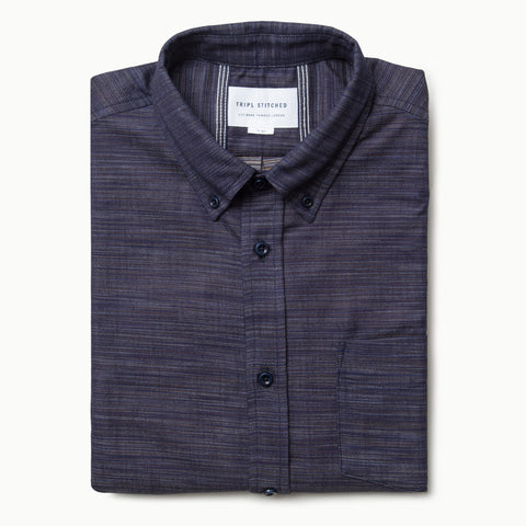 Slub Indigo Button Down