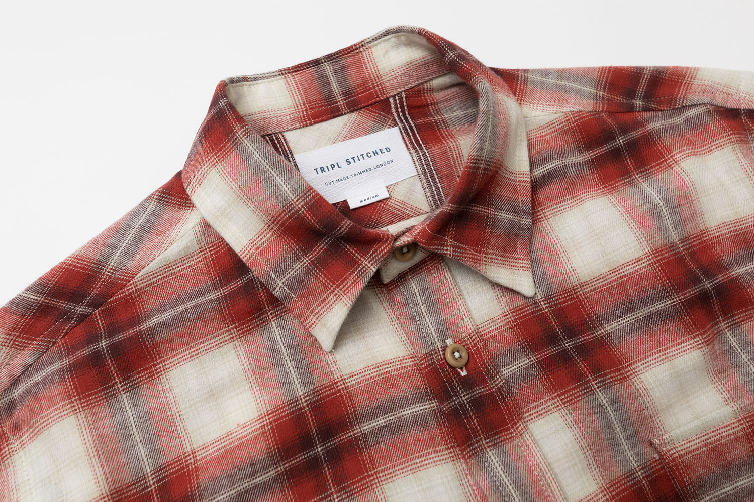 Japanese Check - White/Red