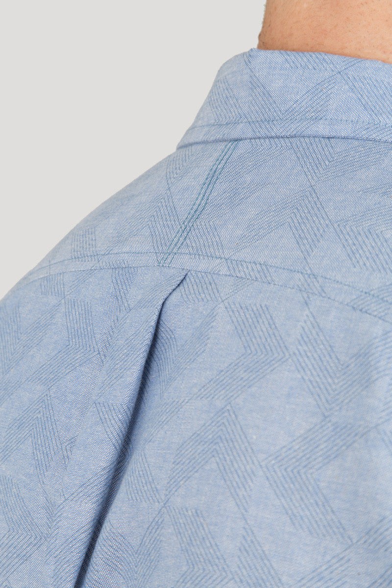 Arrows Print - Blue on Blue