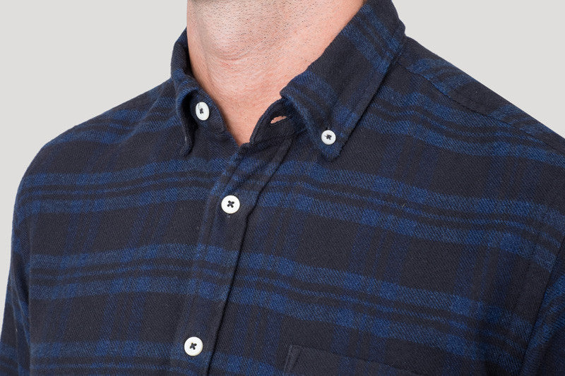 Classic Button Down - Heavy Indigo Flannel
