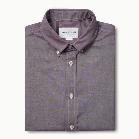 Short sleeve oxford - Burgundy