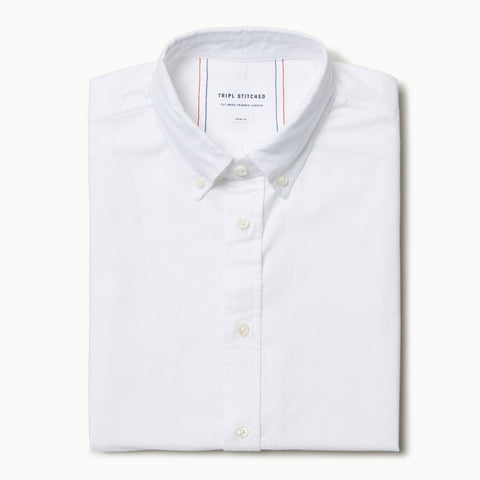 Short sleeve oxford - White
