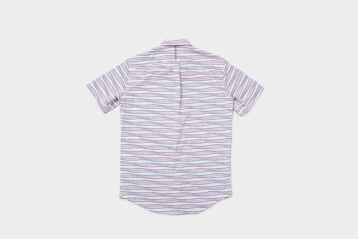 Short sleeve oxford wave - red