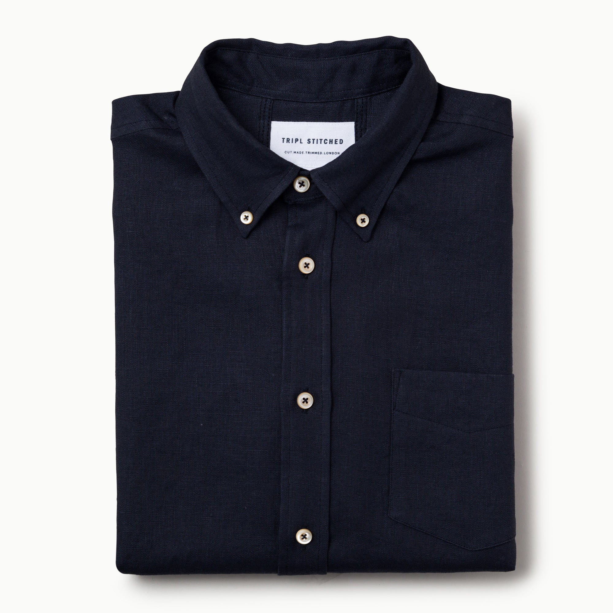 Linen Button down - dark navy