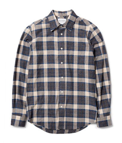 Blue/Charcoal/Oatmeal Check Shirt