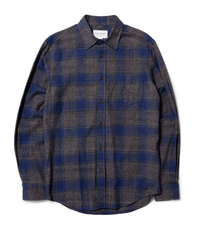 Blue/Grey Marl Check Shirt