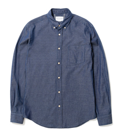 Indigo Oxford Weave Shirt
