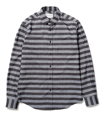 Blue/Black Horizontal Stripe Shirt