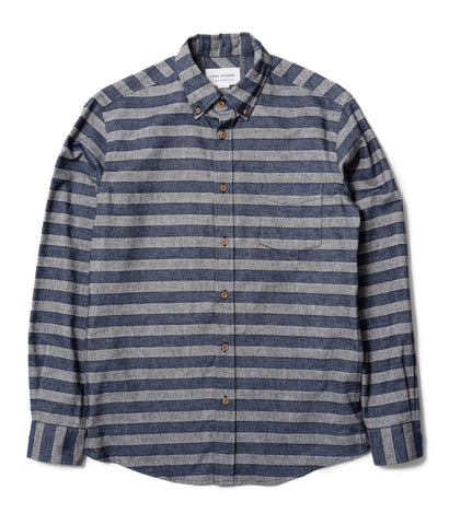 Blue/Grey Horizontal Stripe Shirt