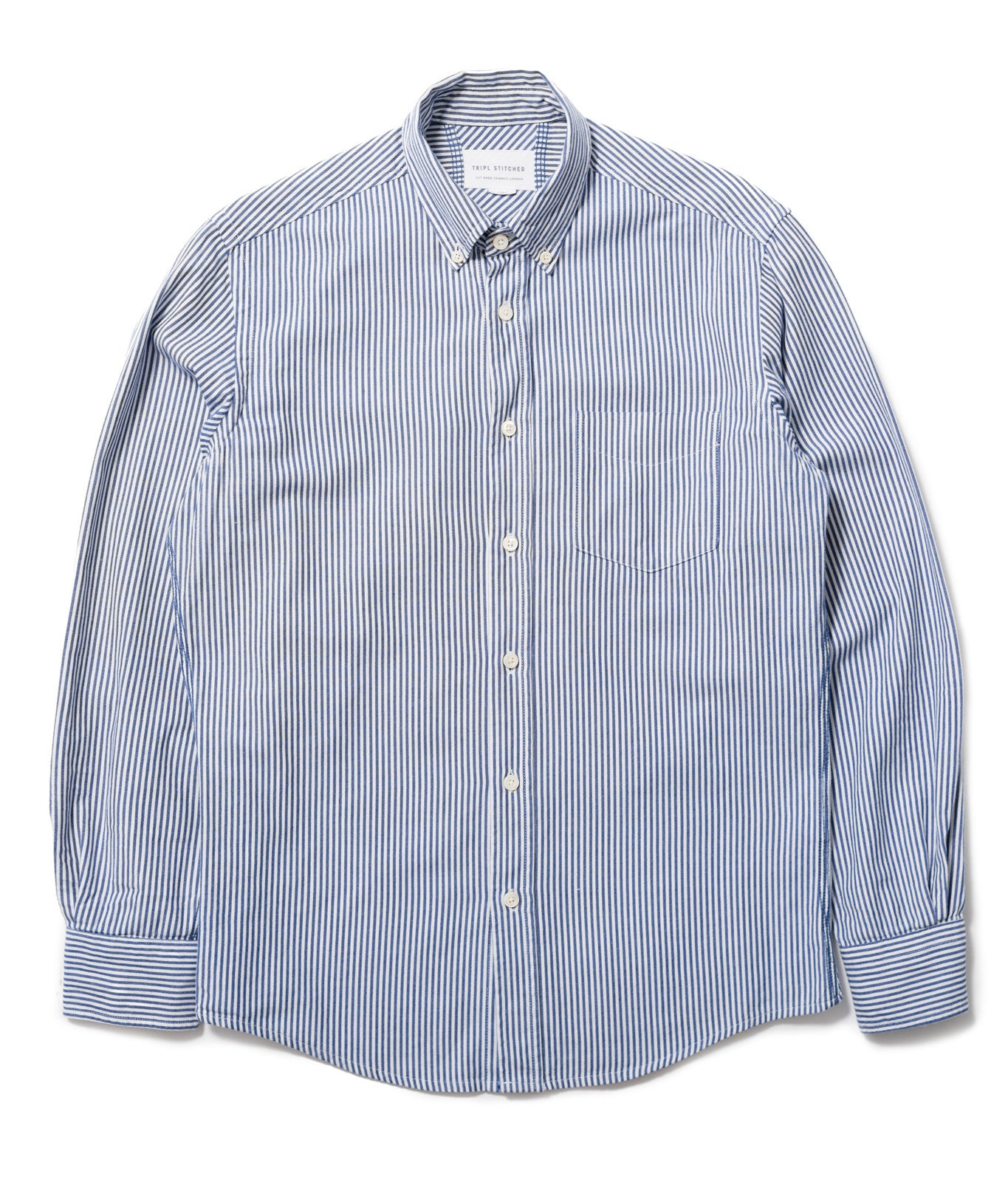 Classic Button Down - Navy Candy Stripe