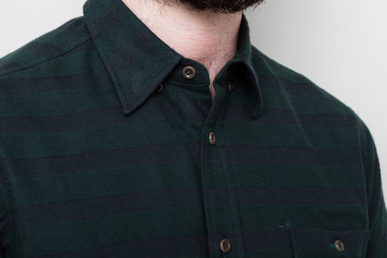 Green Horizontal Stripe Shirt