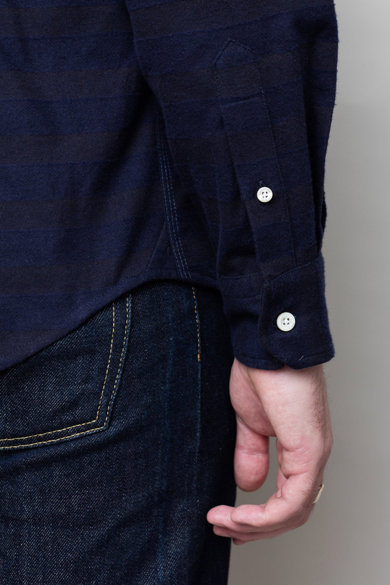 Navy Horizontal Stripe Shirt
