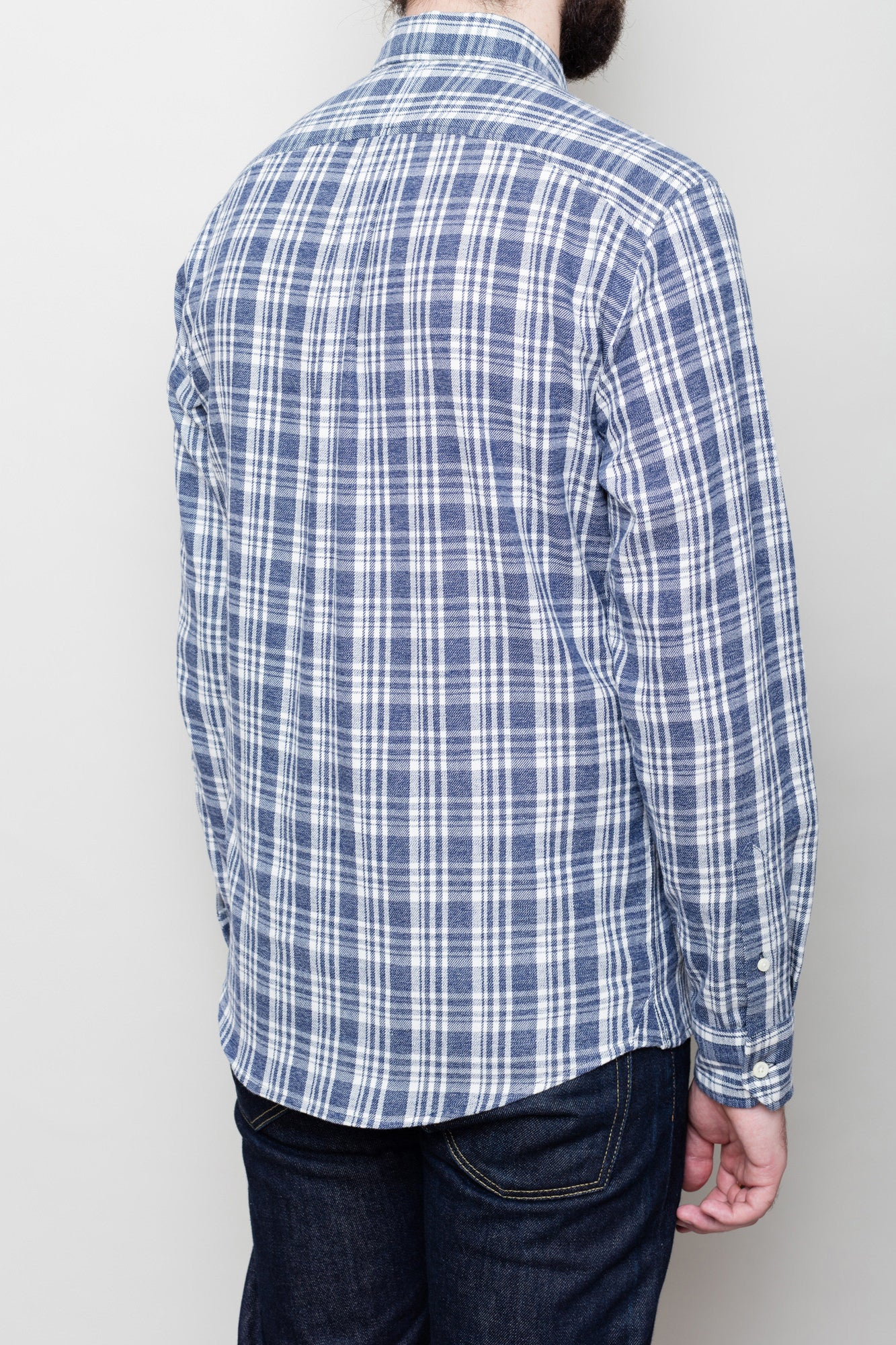 Washed Down Blue/Oatmeal Check Shirt