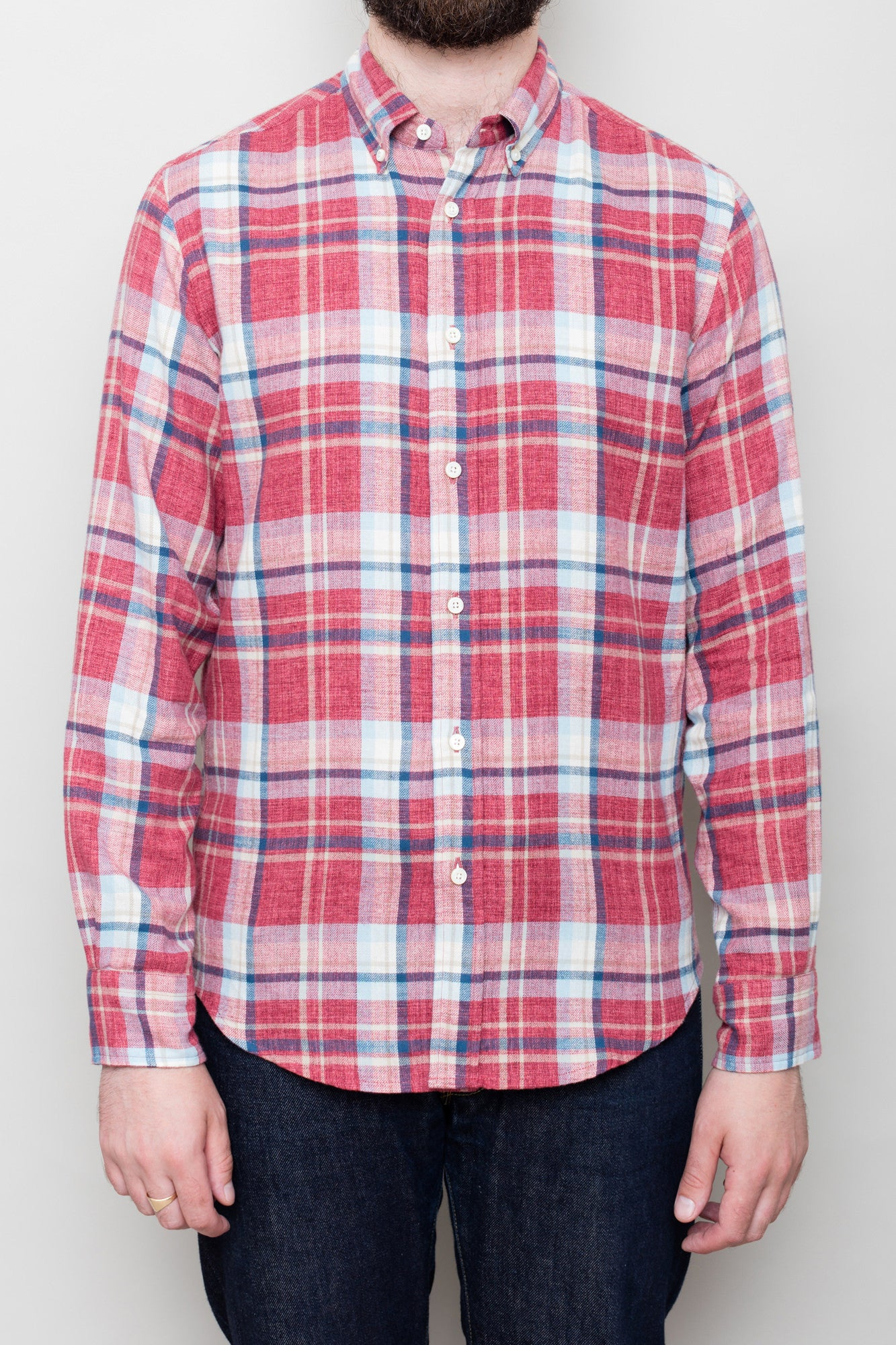 Japanese Red Check Shirt
