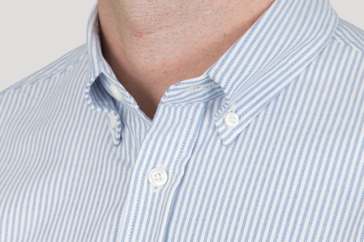 Classic Button Down - Sky Candy Stripe