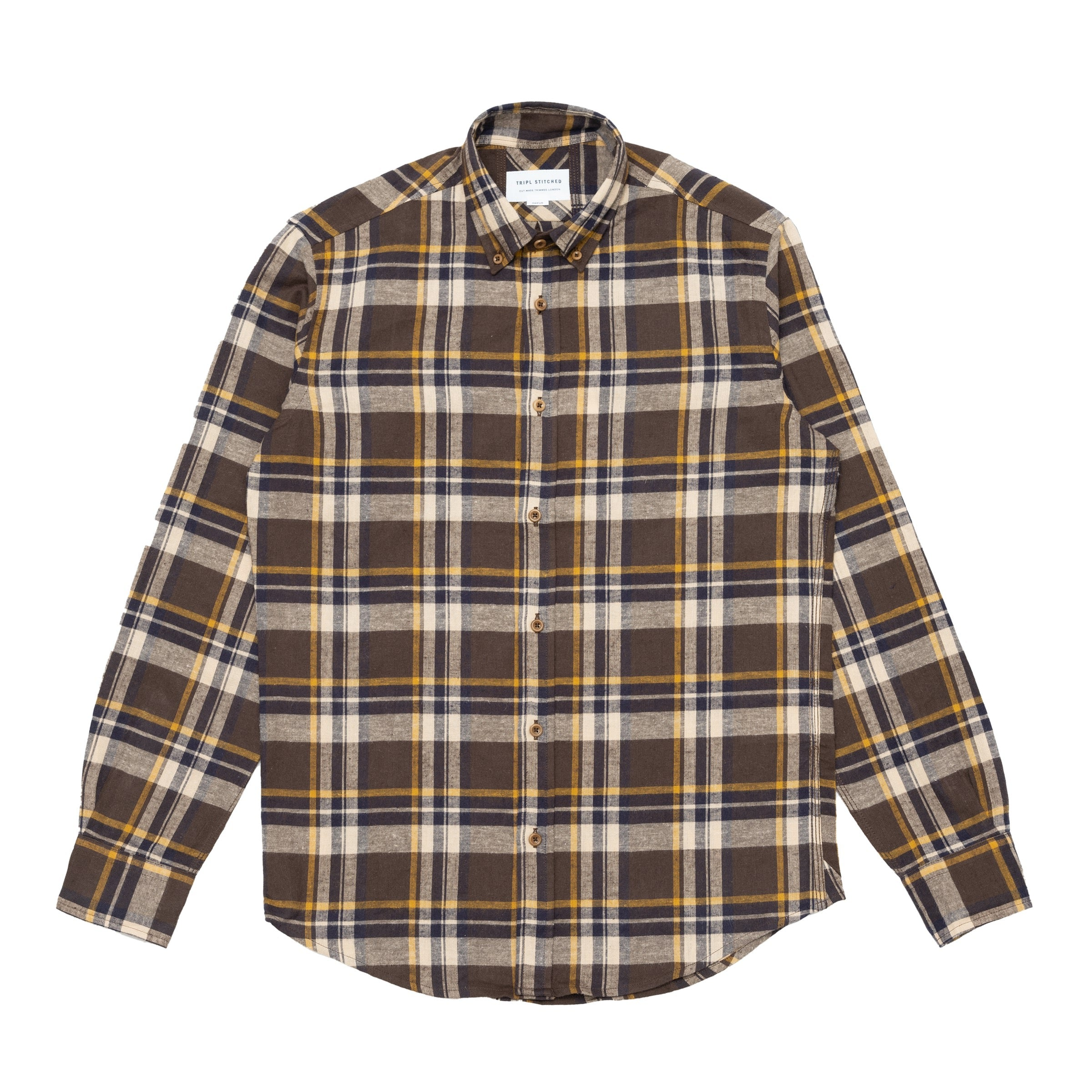 Button Down Shirt - Brown Flannel Check