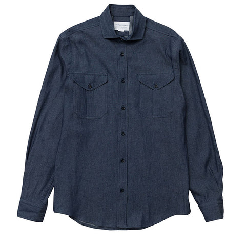 Double Pocket Spread - Dark Chambray