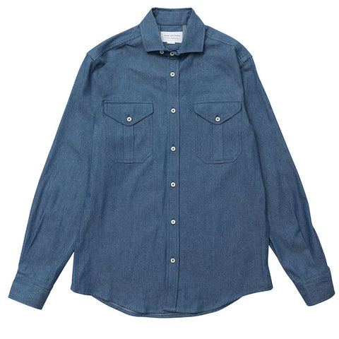 Double Pocket Spread - Light Chambray