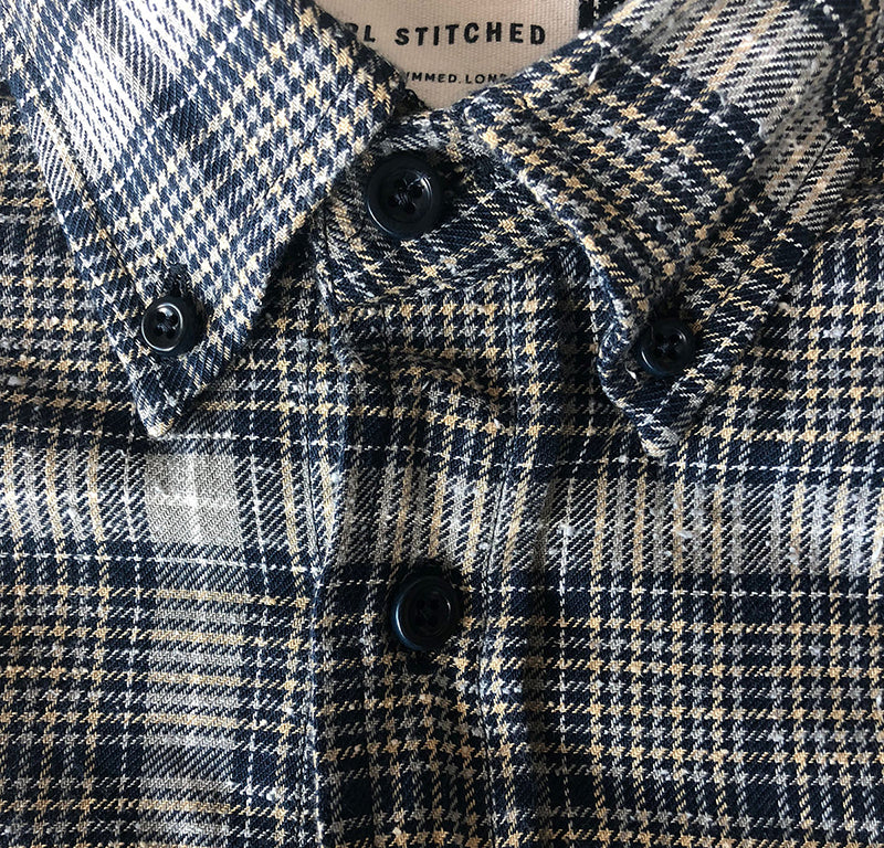 Button Down Shirt - Dogtooth Check