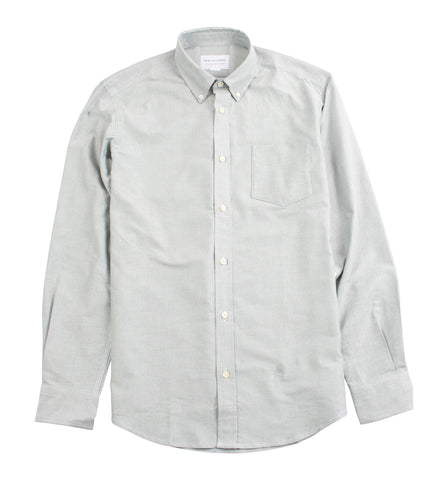 Classic Button Down - Green Oxford