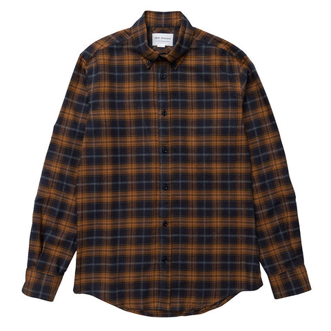 Japanese Check - Navy/Brown