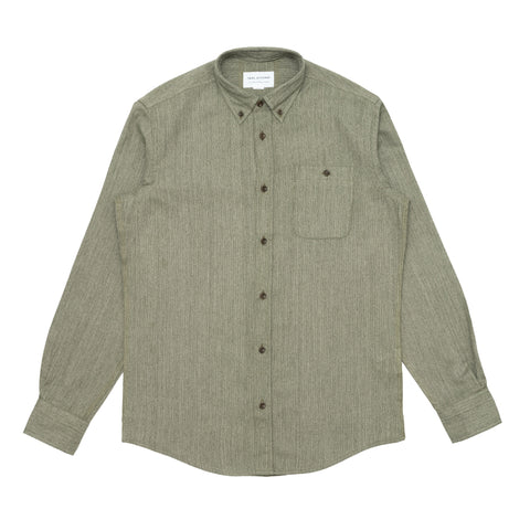 Button Down Shirt - Japanese Khaki Slub