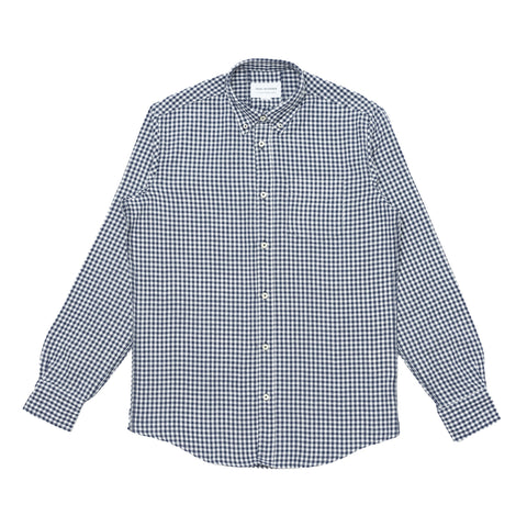 Button Down Shirt - Japanese Navy Gingham