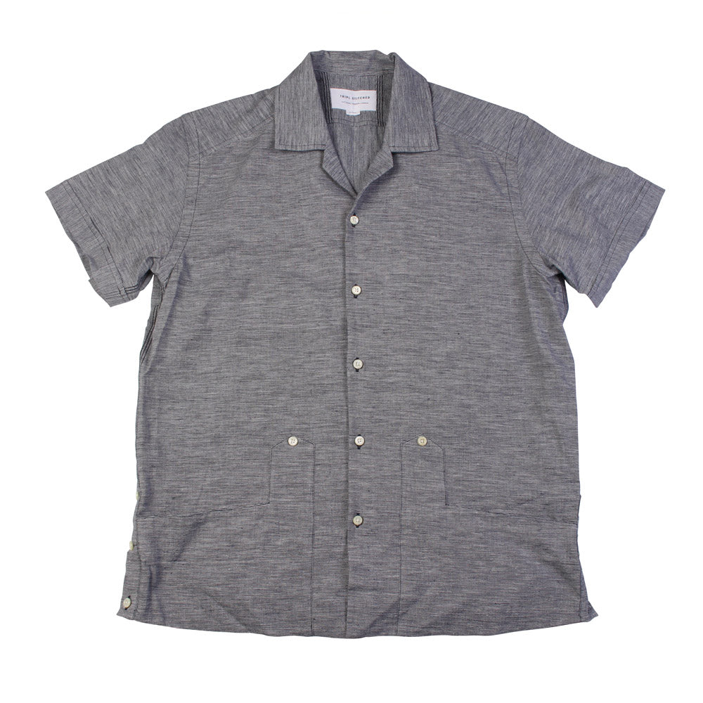 Cuban Shirt - Navy Marl