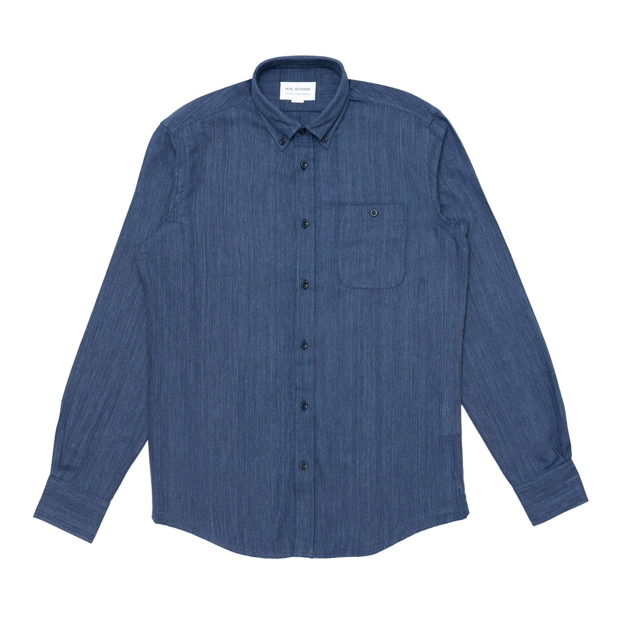 Button Down Shirt - Japanese Navy Slub