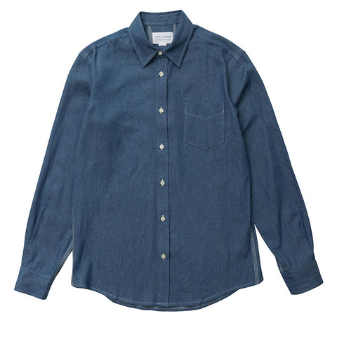 Point Collar - Light Chambray