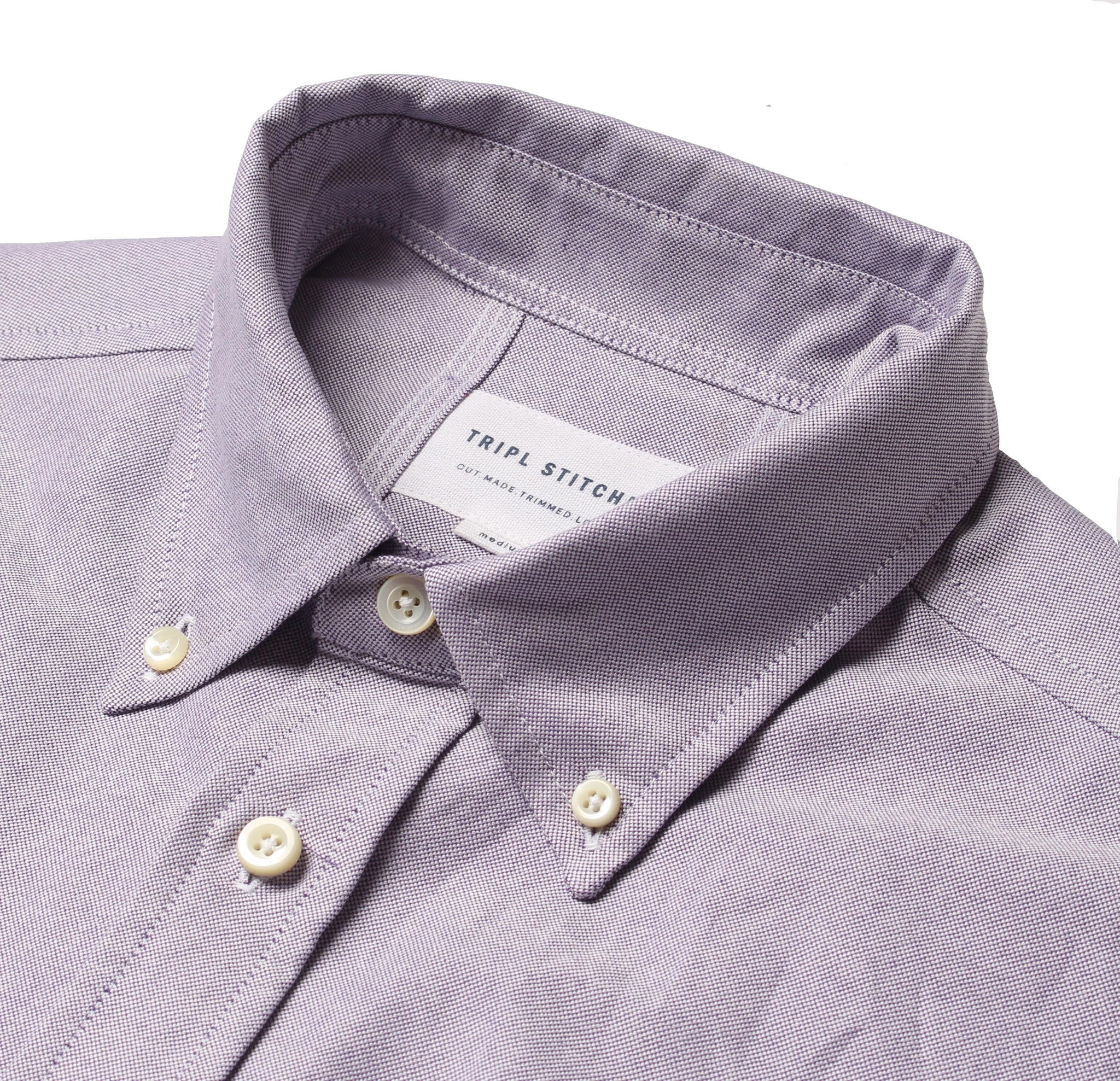 Classic Button Down - Purple Oxford