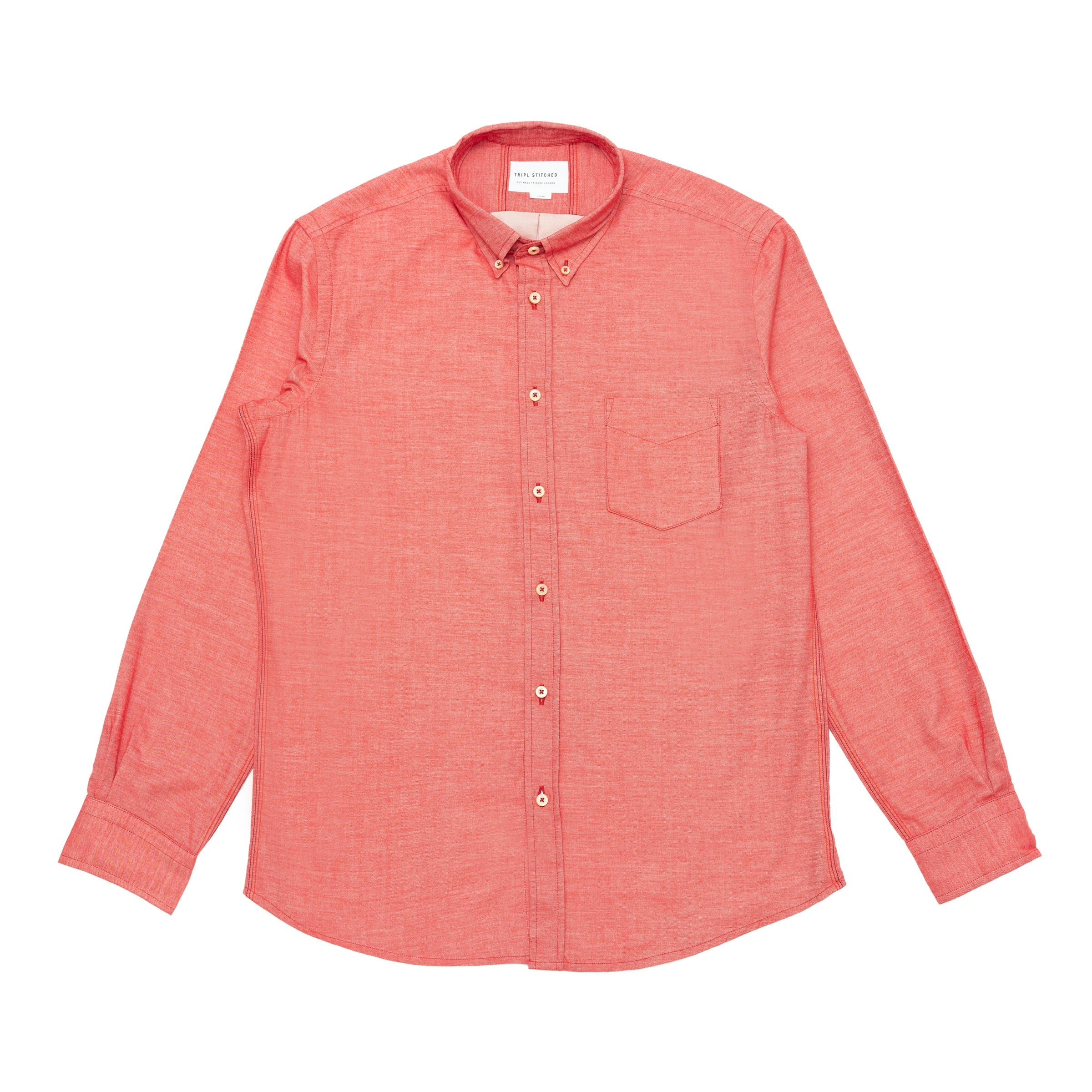 Italian Flannel Button Down - Red