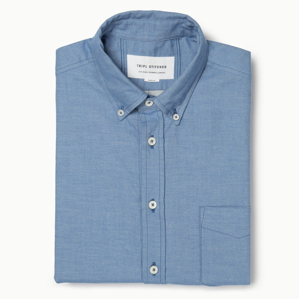 Italian Flannel Button Down - Sky