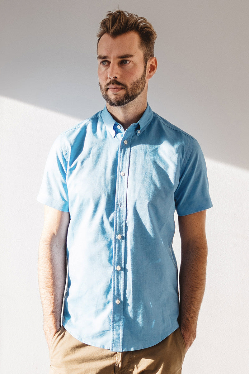 Short sleeve oxford - Sky