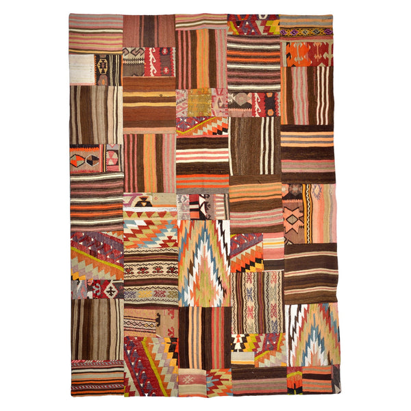 Turkish Anatolian Kilim Patchwork 240x188cm