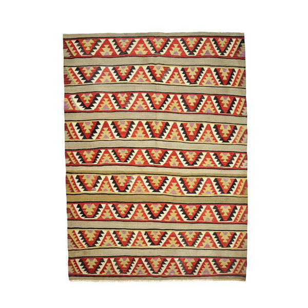 Turkish Anatolian Reversible Handwoven Kilim 199x165cm