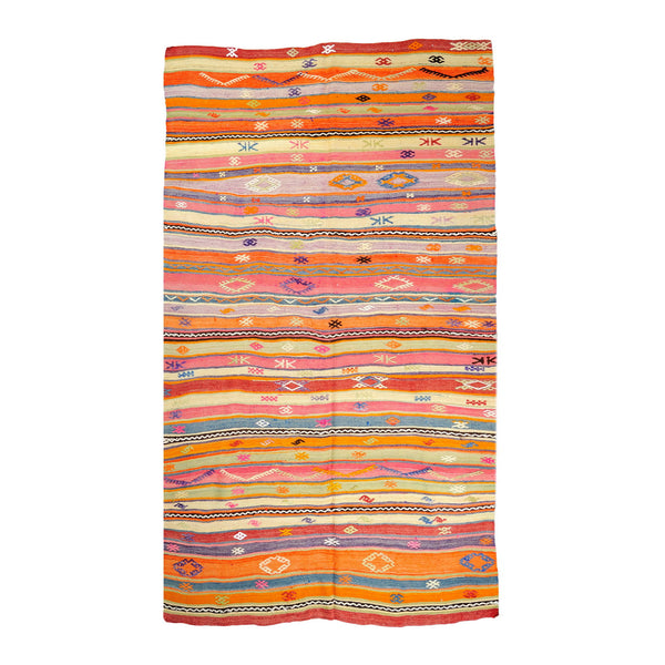 Turkish Anatolian Reversible Handwoven Kilim 254x164cm