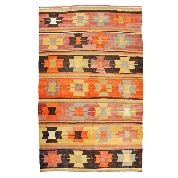 Turkish Anatolian Reversible Handwoven Kilim 256x183cm