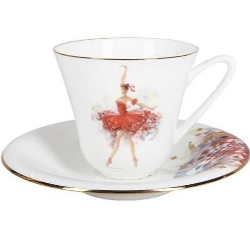 "A cup with saucer  ""Fairy of courage"" shape Garden"