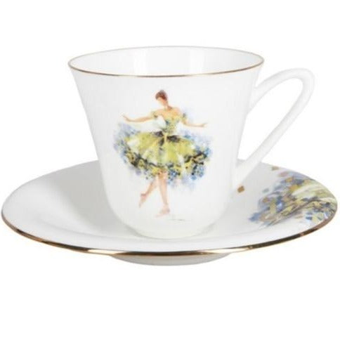 "A cup with saucer  ""Fairy of generosity"" shape Garden"